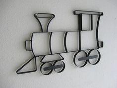 Train Engine Choo Choo Metal Wall Hanging