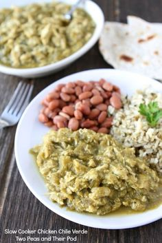 Slow Cooker Chicken Chile Verde from www.twopeasandtheirpod.com #recipe