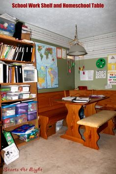 cute homeschool room