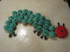 caterpillar cupcak