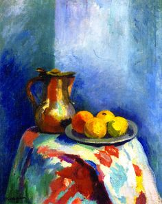 Henri Manguin,	 Still LIfe with Copper Pitcher, 1902-03