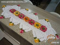 Caminho de Mesa em Crochê Imperial - Tapetes e Toalhas - Aprendendo Croche