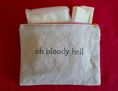 Indiscreet oh bloody hell Zip Pouch for Tampons by dreadfulgirl
