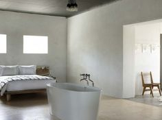 Bath in the bedroom