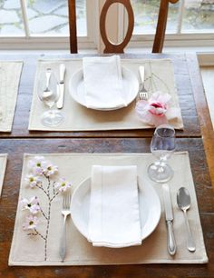 Click Pic for 25 DIY Easter Decorations for the Home - Polished Placemats - Easter Table Decorations