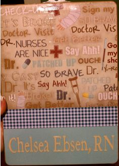 Super Cute Customized, Nurse Style Clipboard - Great gift for a Nurse!!