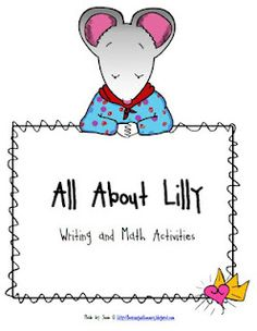 All About Lilly Mini Unit Freebie!
