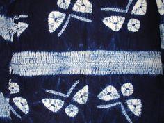 Japanese Vintage Textile Shibori Kimono Butterfly