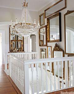 gold mirror wall