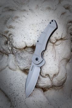 "The Kershaw JYD Junkyard Dog Folding knife features a 3.0"" blade made of Sandvik 13C26 stainless steel."