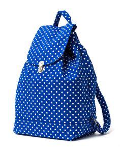 Baggu Backpack (Dot Blue)