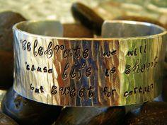 Dave Matthews band song lyrics bracelet.  Celebrate we will.... $19.00, via Etsy.
