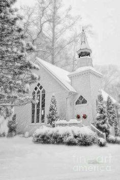 Christmas holiday, winter wonderland, snow, beauti church, white christmas, white church, place, countri church, country churches