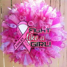 Hey, I found this really awesome Etsy listing at https://www.etsy.com/listing/151075024/deco-mesh-breast-cancer-awareness-wreath