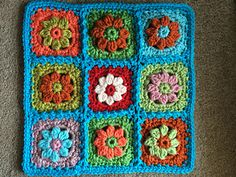 Daisy Pop Mini Motif, #crochet pattern by Julie Yeager - free with coupon code through 8/31/2014