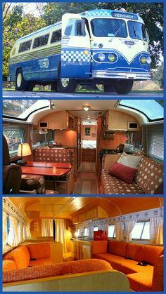 camper trailers, old campers, bus campers, vintage motorhomes, campers trailers, buse, camping love, old motorhomes, old travel trailers