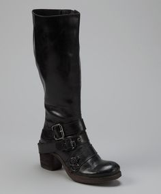 Black Outlawed Leather Boot