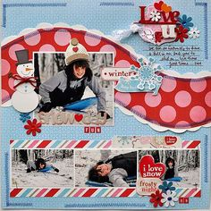 "Cute & Colorful ""Snow Day Fun"" Scrapping Page...Gumpgirl - Scrapbook.com."