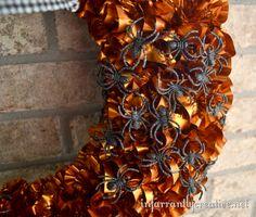close_up_spider_wreath wreath mad, spider wreath, fall wreath, halloween wreaths