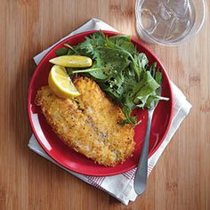 Parmesan-Crusted Tilapia | MyRecipes.com #myplate #protein