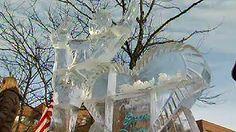 Highland Park Unveils Jason Brown Ice Sculpture