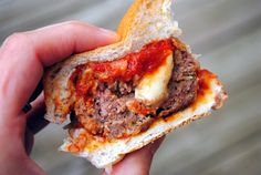 meatball sliders dinner, chees stuf, game day appetizers, cheese dips, sandwich, burger recipes, meatbal slider, parti, stuf meatbal