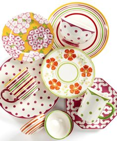 Martha Stewart Collection Poppy Mix & Match Dinnerware Collection -- available at Macy's!