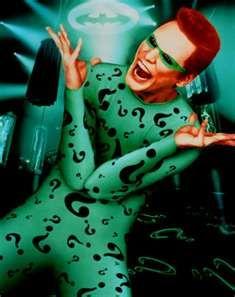 "Jim Carrey's The Riddler from ""Batman Forever"""