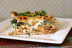 White Cheese and Chicken Lasagne