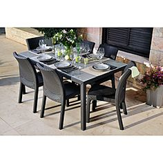 @Overstock - The Mykonos 7-pc dining Set combines quality, style and comfort and is made entirely with high quality resin, with no metal parts. Innovation and technique delivers you an incredilby durable product with the most modern style trends.http://www.overstock.com/Home-Garden/Mykonos-Grey-7-pc-Dining-Set/6552323/product.html?CID=214117 $1,089.99