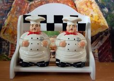 Italian Bistro Chef 2PC canister with RACK wall decor | eBay