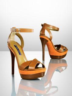 Joelle Calf-Suede Sandal - Ralph Lauren Collection £620