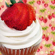 Lightened Strawberry Shortcake Cupcakes - low fat, low calorie, and oh so yummy!