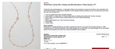 """Rose Rock Candy Mini Lollipop and Ball Necklace in Rose Quartz, 37"""" from Episode 303: """"Mrs. Smith Goes to Washington."""""""