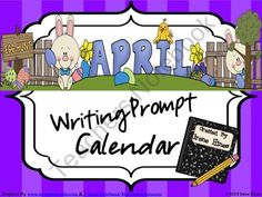 April, Spring & Easter Writing Prompt Calendar from Irene Hines on TeachersNotebook.com (82 pages)  - April and Spring Writing Prompt Calendar ~ An April writing calendar with 20 writing prompts. Many Easter, Spring, and Earth Day Writing Ideas.$