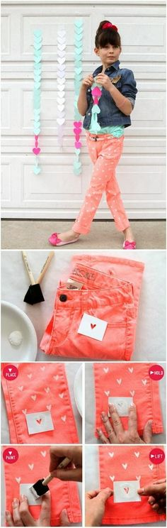 DIY Painted Heart on your Jeans