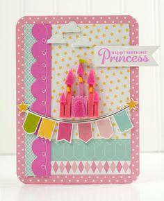 """""""Happy Birthday Princess"""" Card *Pebbles* - Scrapbook.com"""
