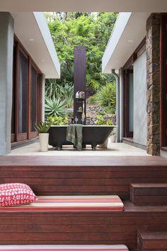 Outdoor bath....
