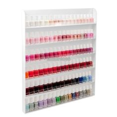 Acrylic-Nail-Polish-Wall-Rack-Organizer-Display-Stand-Holder-Clear-Storage-EP98