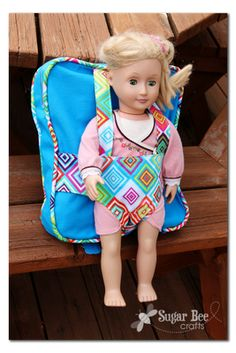 Sugar Bee Crafts: Backpack and Doll Carrier - gift idea!!