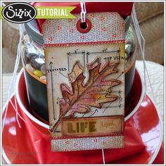 Sizzix Tutorial   Leaf Blueprint Art Tag by Audrey Pettit
