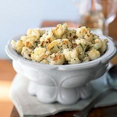 Roasted Cauliflower with Fresh Herbs and Parmesan | CookingLight.com