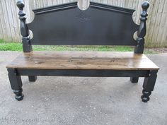 started out as a headboard and footboard from a bed