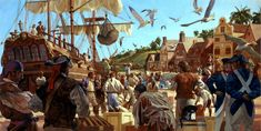 Muddy Colors: Pirate Paintings for National Geographic Pt. 7 - Gregory Manchess