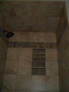How to install tile on a shower ceiling.  Instructions and photos