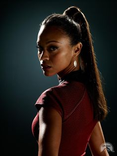 "Zoe Saldana as Uhura in ""Star Trek"" (2009) http://www.imdb.com/find?q=Zoe+Saldana&s=all"