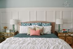 Sita Montgomery Interiors: Client Project Reveal: The Midlake Project - Restful Master Bedroom Retreat Features our Jacqueline Bed.