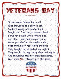 Veteran's Day Poem