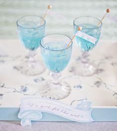 MADHOUSE Botanical Leaf Inspired Tablescape {+ Breezy Blue Cocktail & Free Printables}