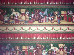 Holiday Home Christmas Border Fabric by KoopsKountryKalico on Etsy, $9.99
